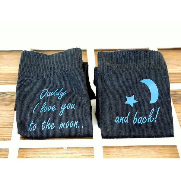 Love You To The Moon Personalised Socks - ALPHS