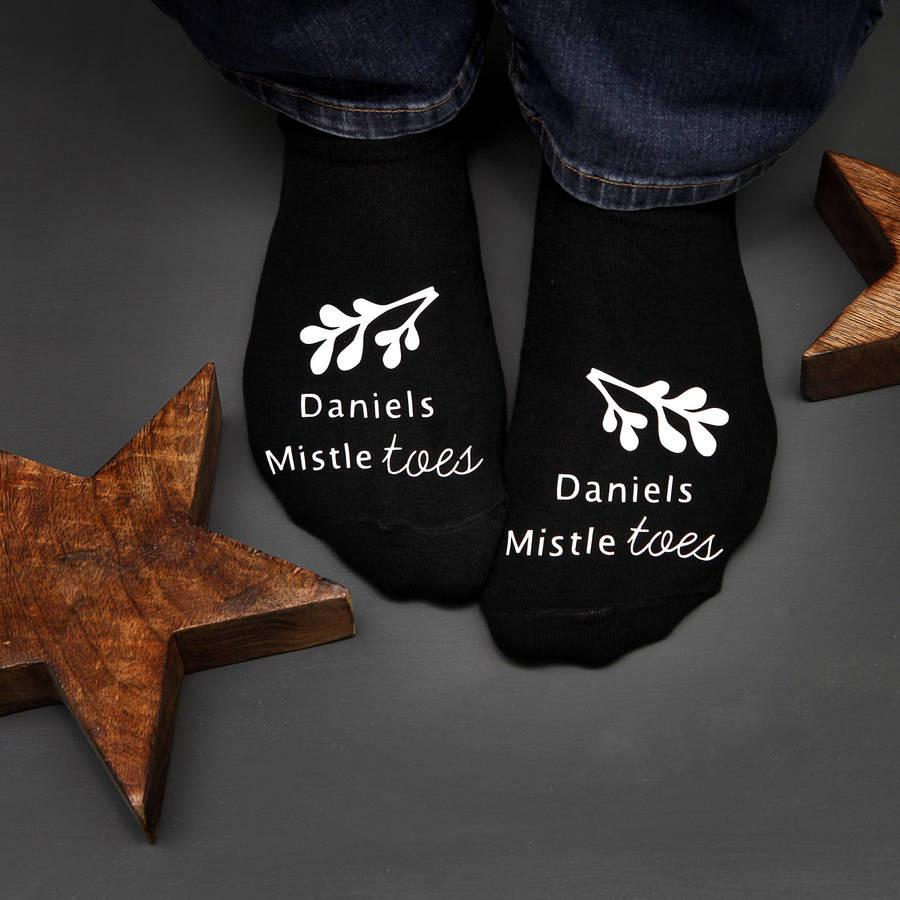 Mistle Toes Christmas Socks, socks, - ALPHS