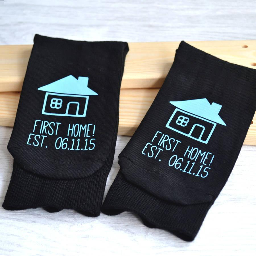 New Home, Personalised Socks, socks, - ALPHS