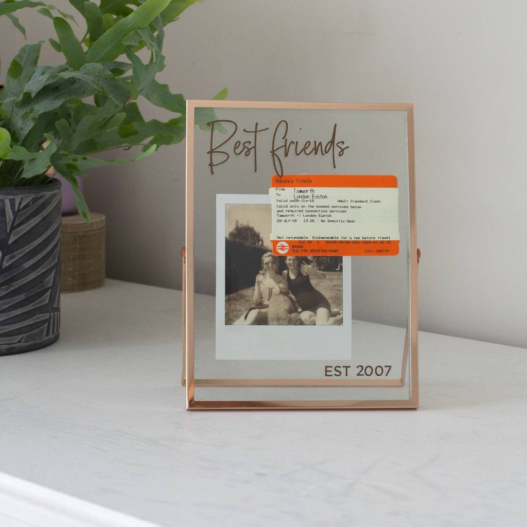 Personalised Best Friends Copper Photo Frame, Frame, - ALPHS