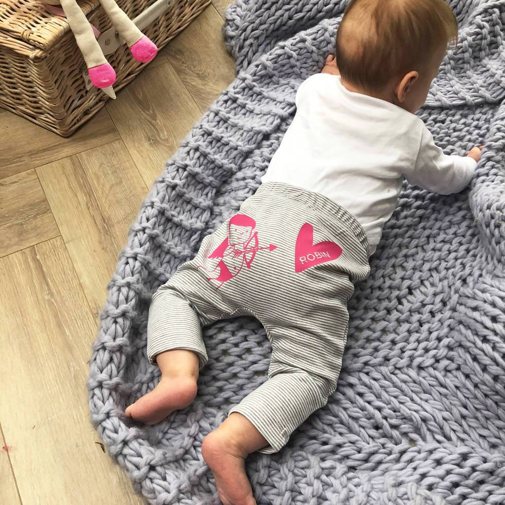 Personalised Baby's First Valentine's Leggings, Leggings, - ALPHS