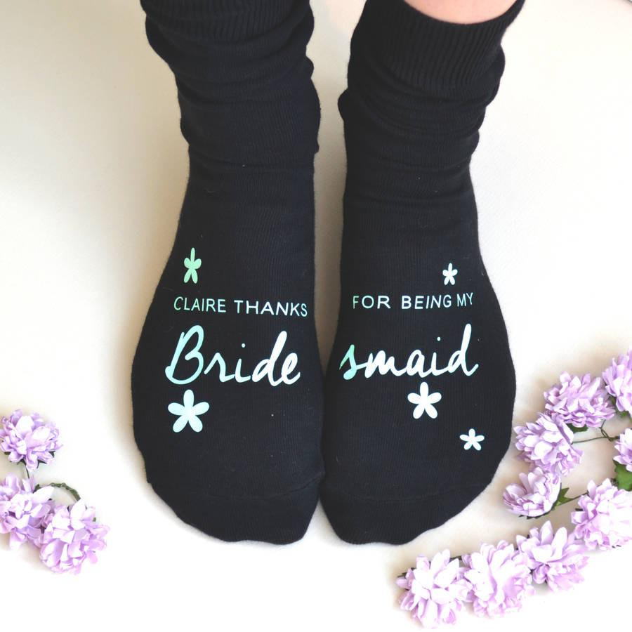 Personalised Bridesmaid Thank You Gift Socks, socks, - ALPHS