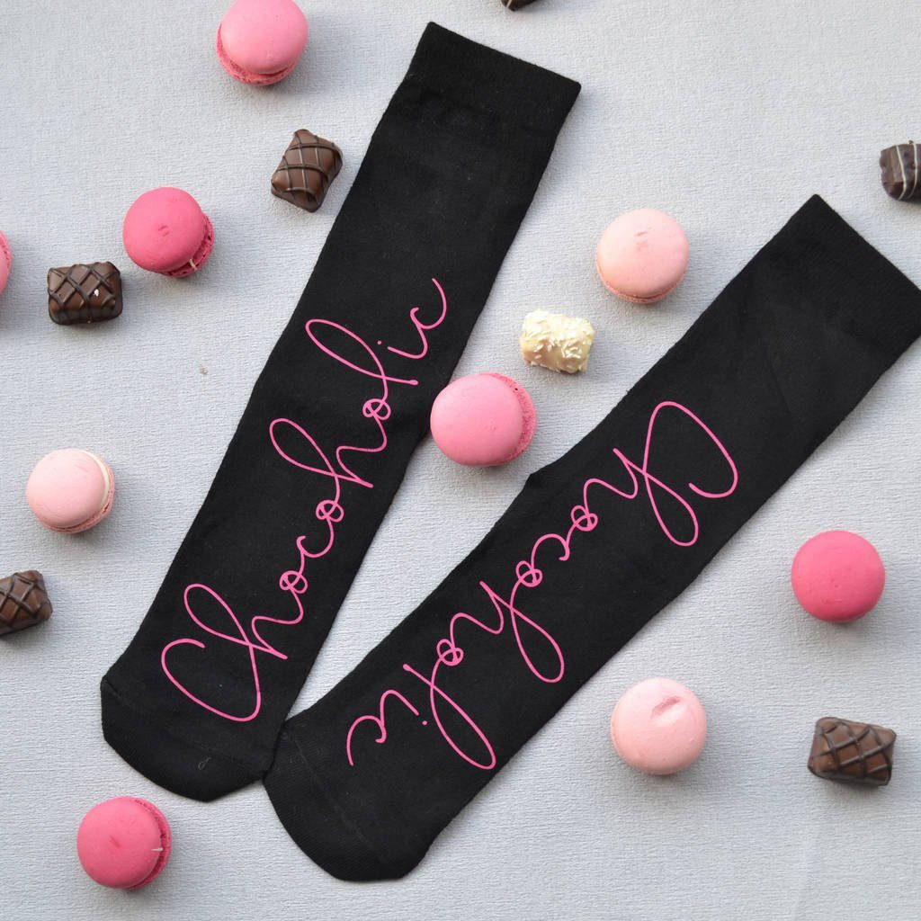 Personalised Socks - Chocoholic, socks, - ALPHS