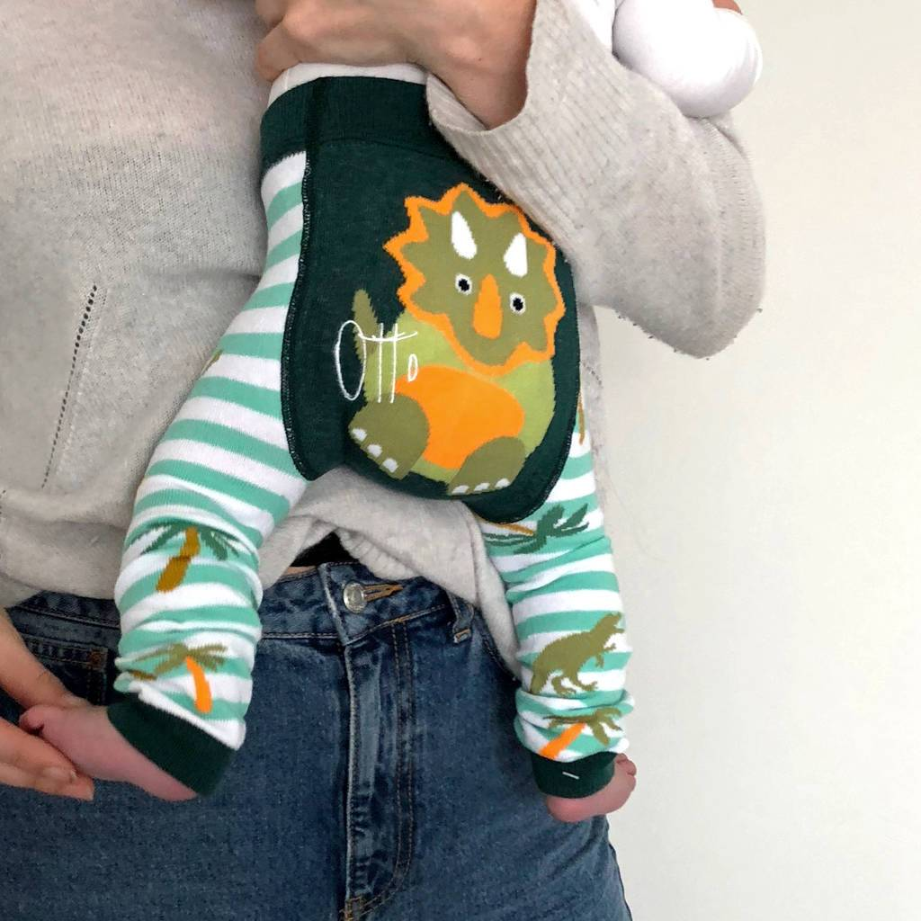Personalised Dinosaur Baby Leggings, Clothing, - ALPHS