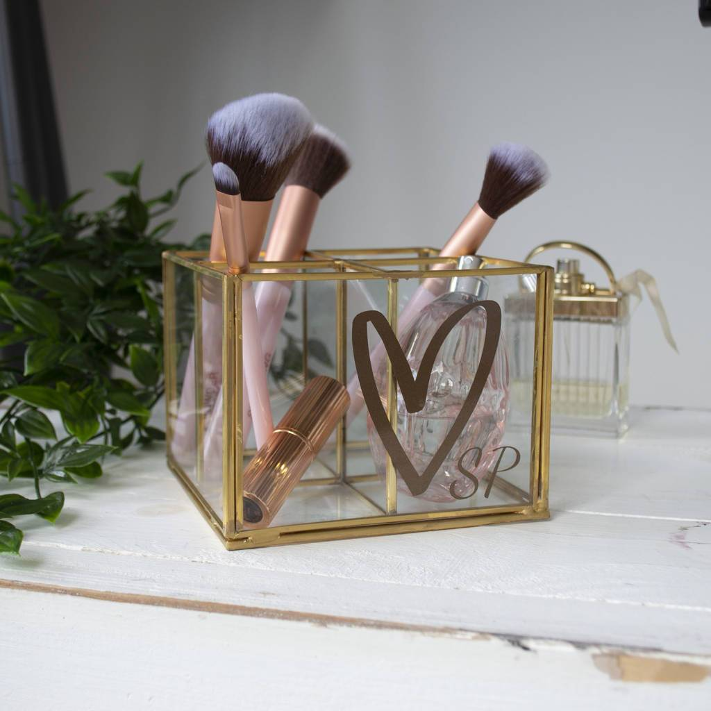Personalised Make Up Brush Storage, letter rack, - ALPHS