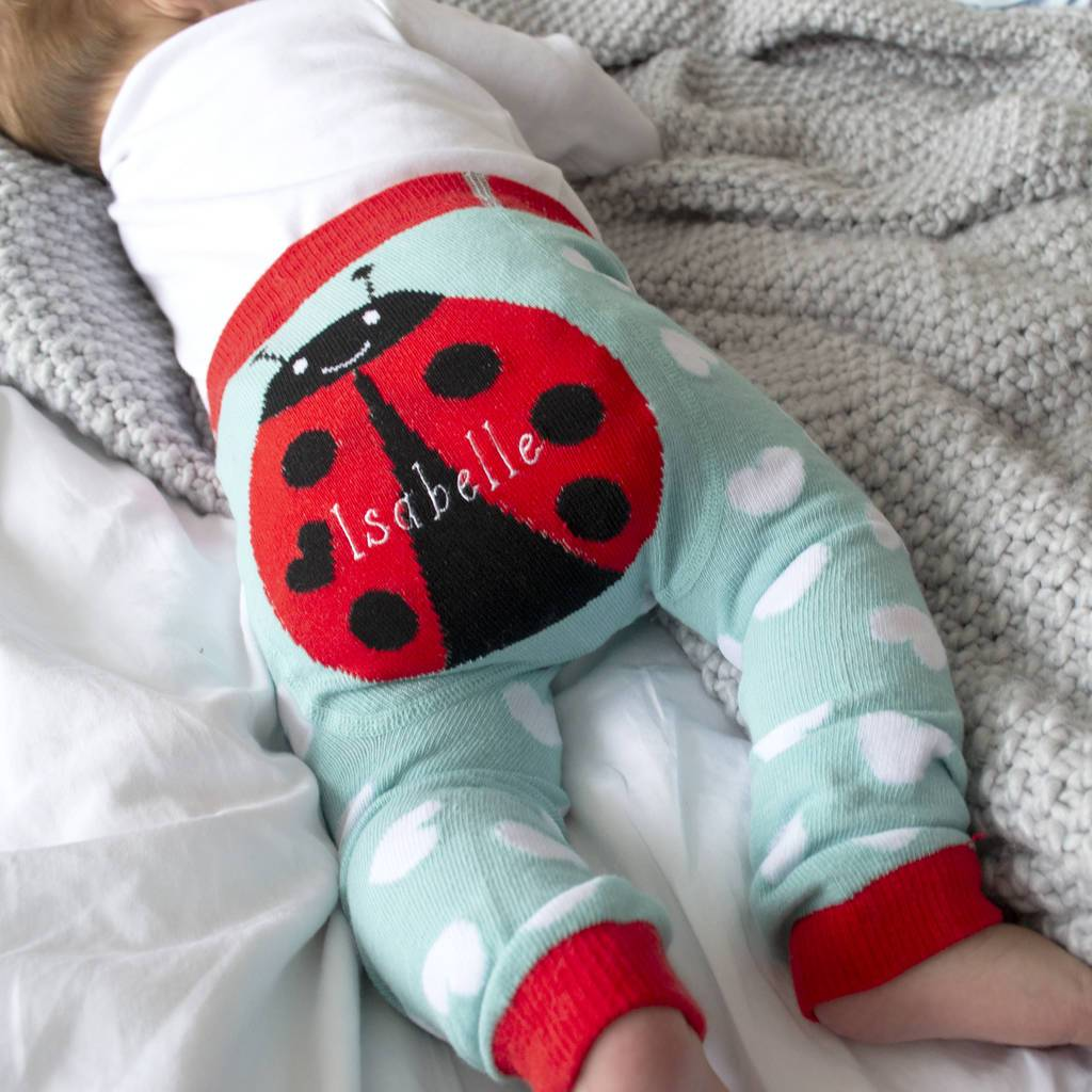 Personalised Ladybird Baby Leggings, Clothing, - ALPHS