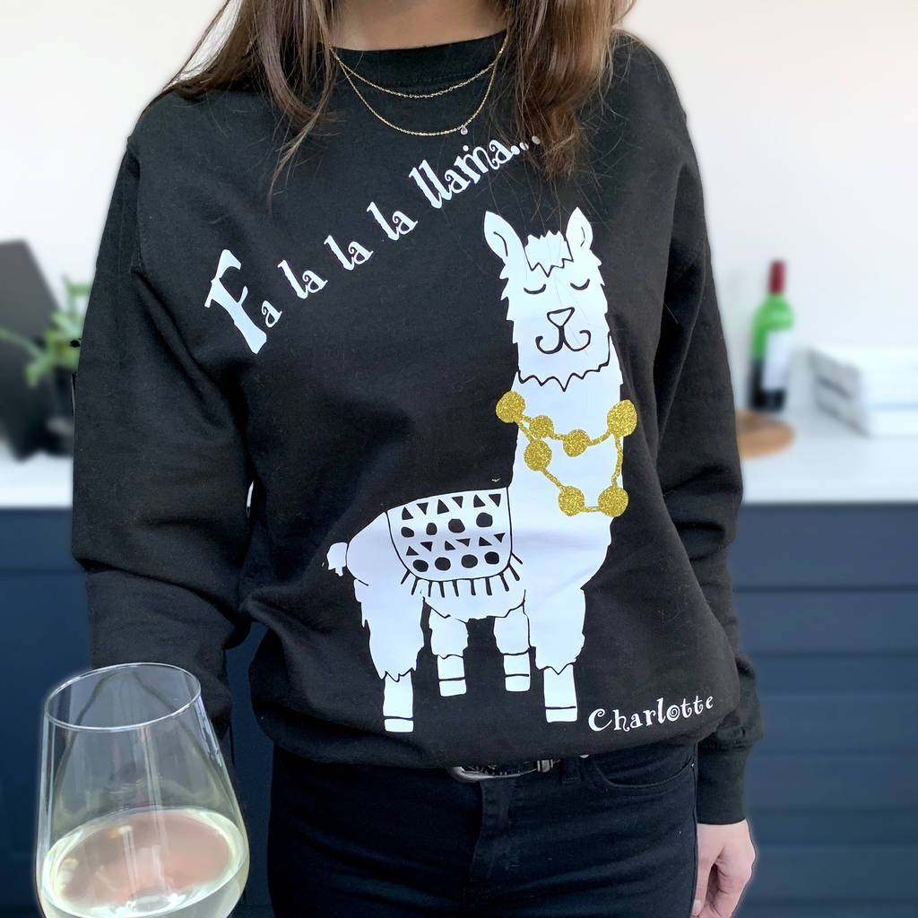 Personalised Llama Christmas Jumper