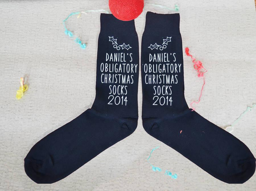 Obligatory Christmas Socks, socks, - ALPHS