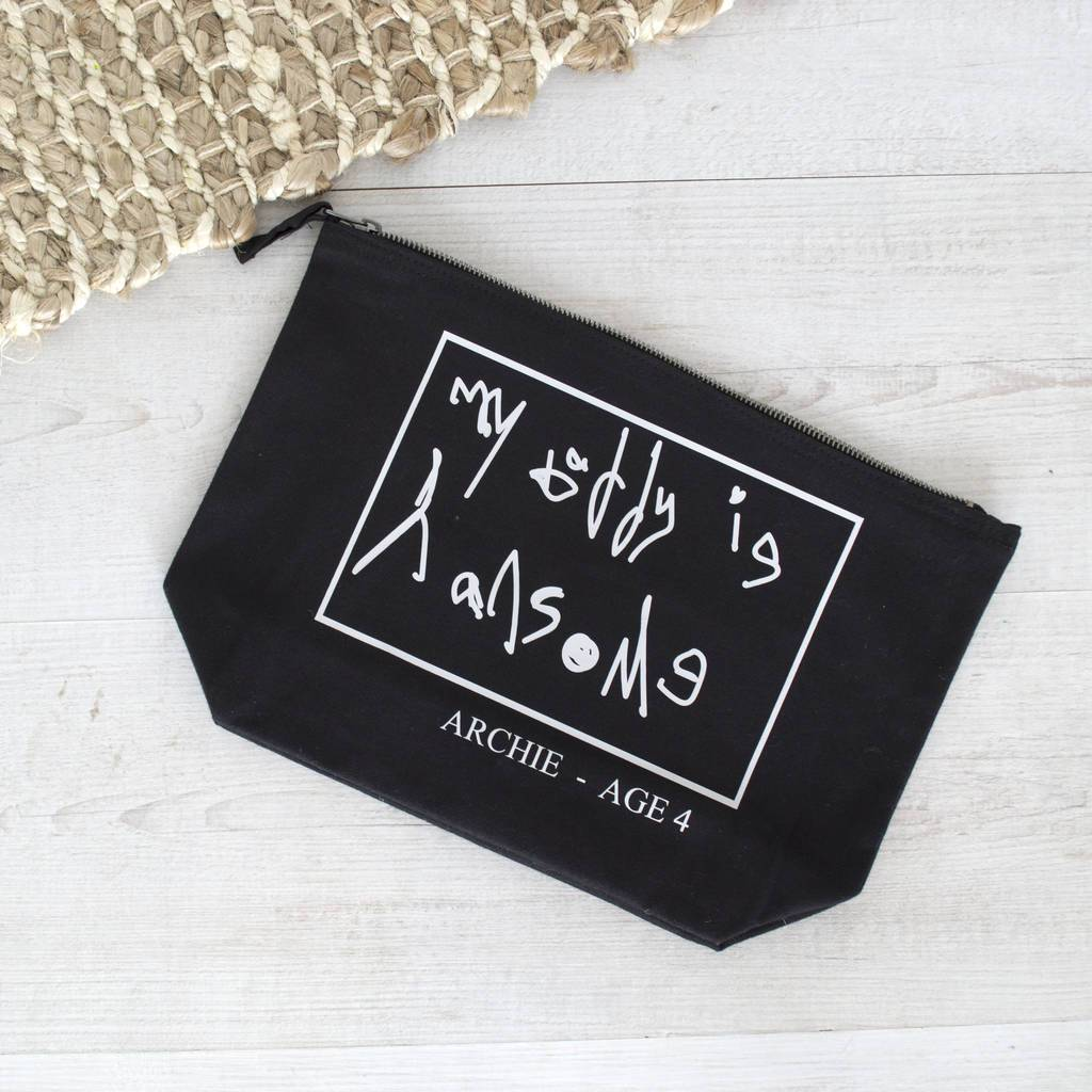 Personalised Your Handwriting Wash Bag