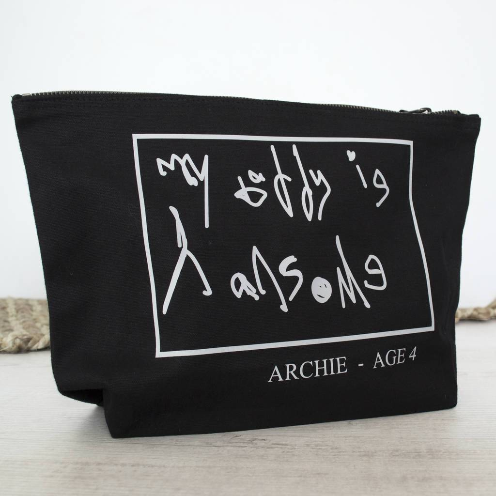 Personalised Your Handwriting Wash Bag, Washbag, - ALPHS