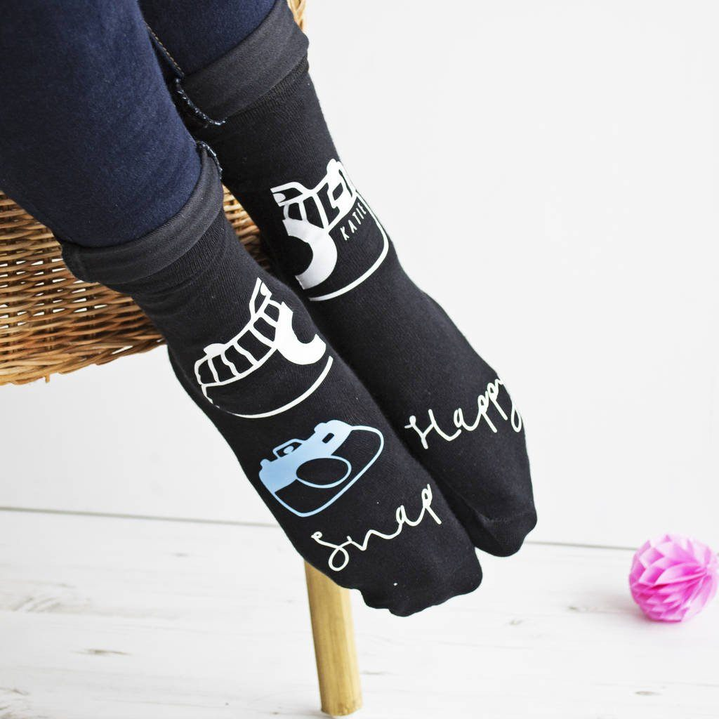 Snap Happy Personalised Photography Socks, Socks, - ALPHS