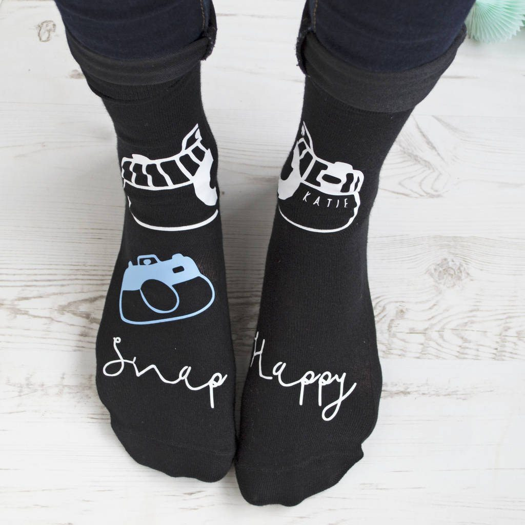 Snap Happy Personalised Photography Socks
