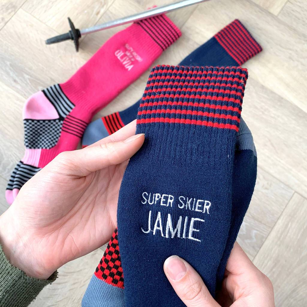 Personalised Ski, Snowboard Socks