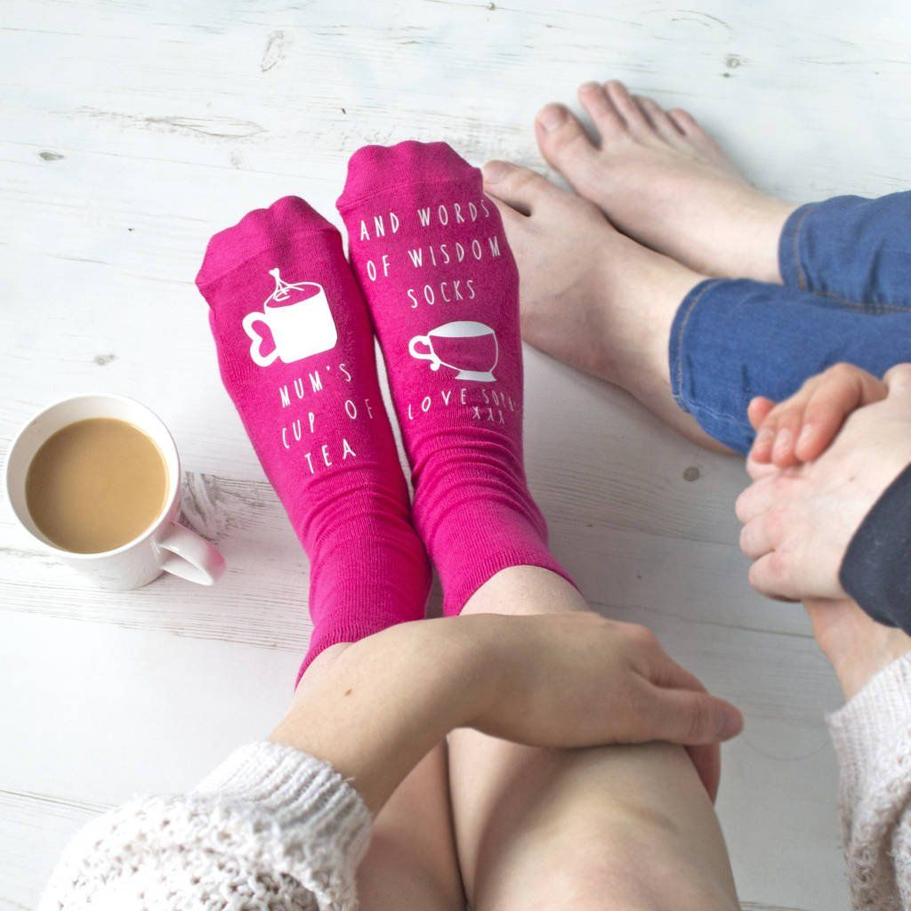 Personalised Mother's Day Socks - Tea and Wise Words, Socks, - ALPHS