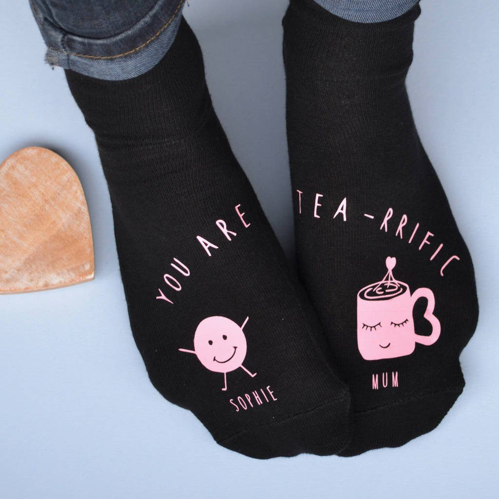 Teariffic Mum And Me Personalised Socks, Socks, - ALPHS