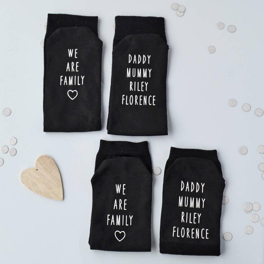We Are Family Personalised Socks - ALPHS