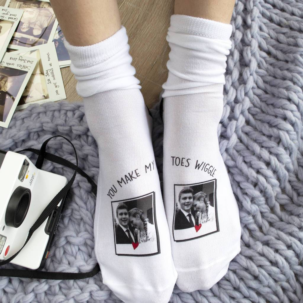 You Make My Toes Wiggle Photo Socks, Photo Socks, - ALPHS