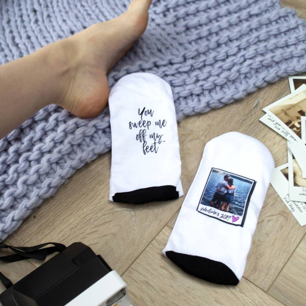 You Sweep Me Off My Feet Photo Socks