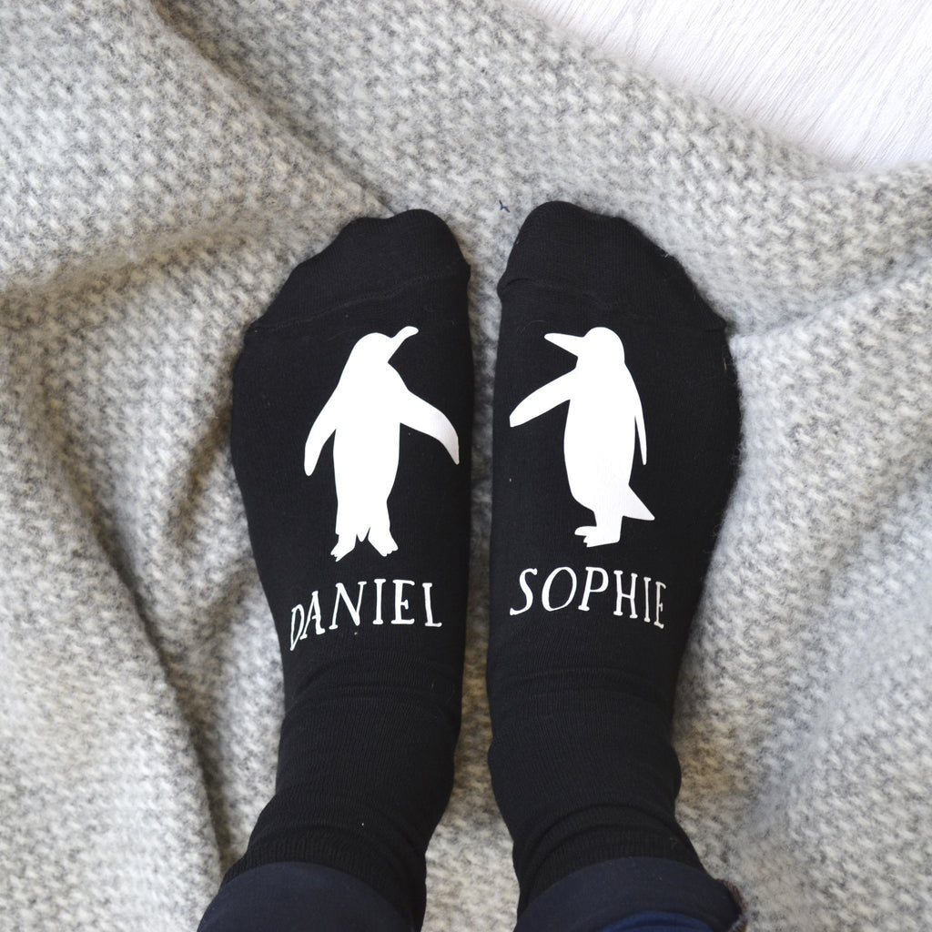 Personalised Gift Animal Socks - Penguin, socks, - ALPHS