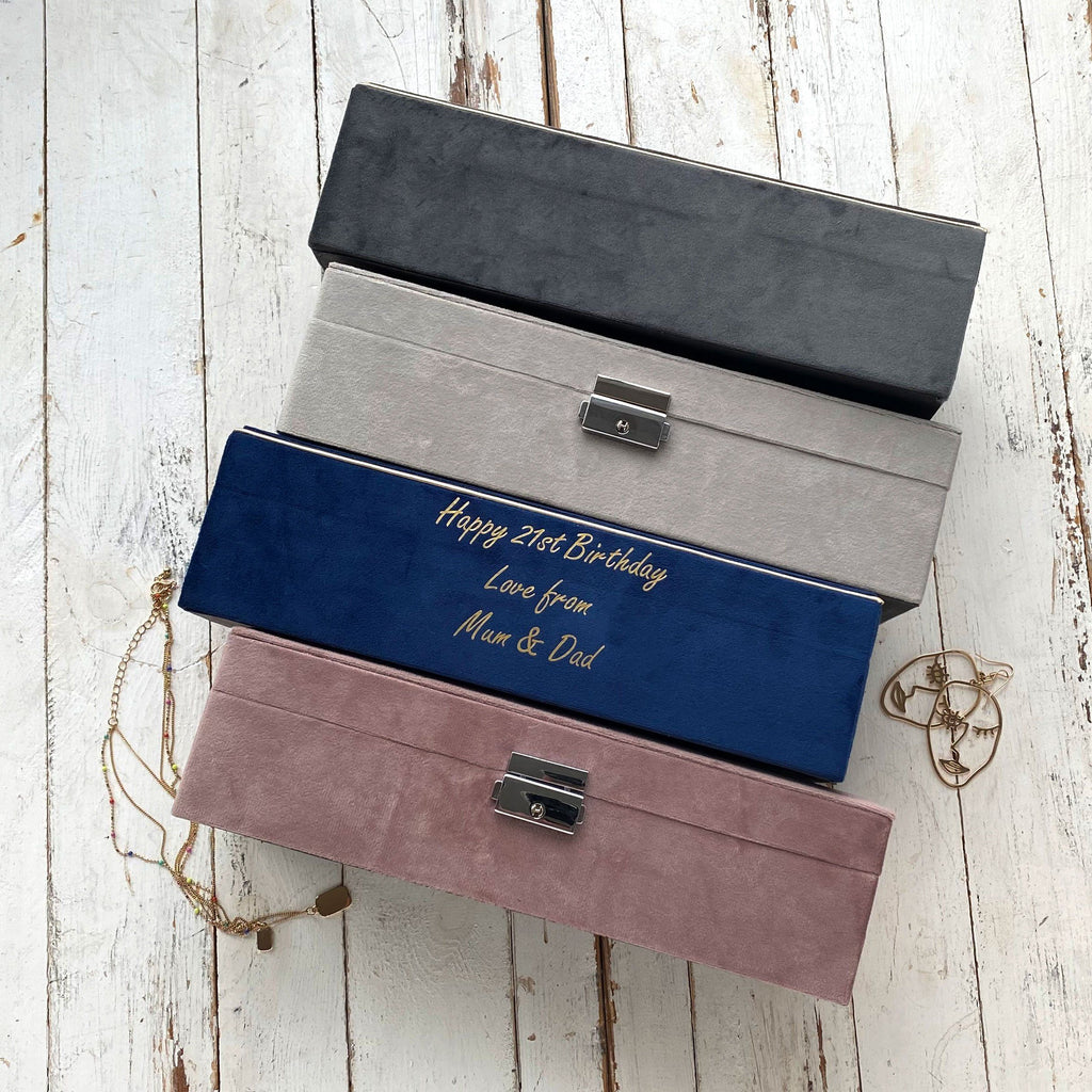 Personalised Hidden Message Velvet Jewellery Box