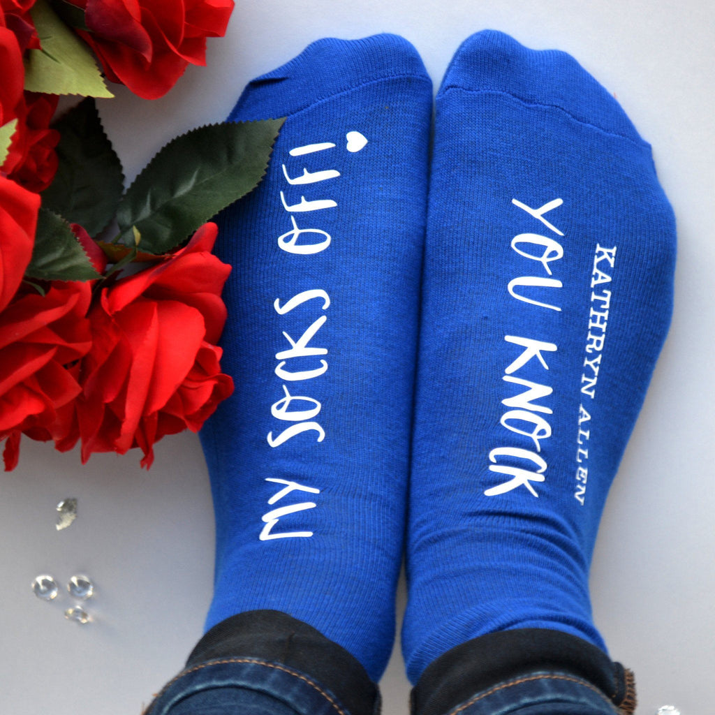Personalised Gift Socks - You Knock My Socks Off, Socks, - ALPHS