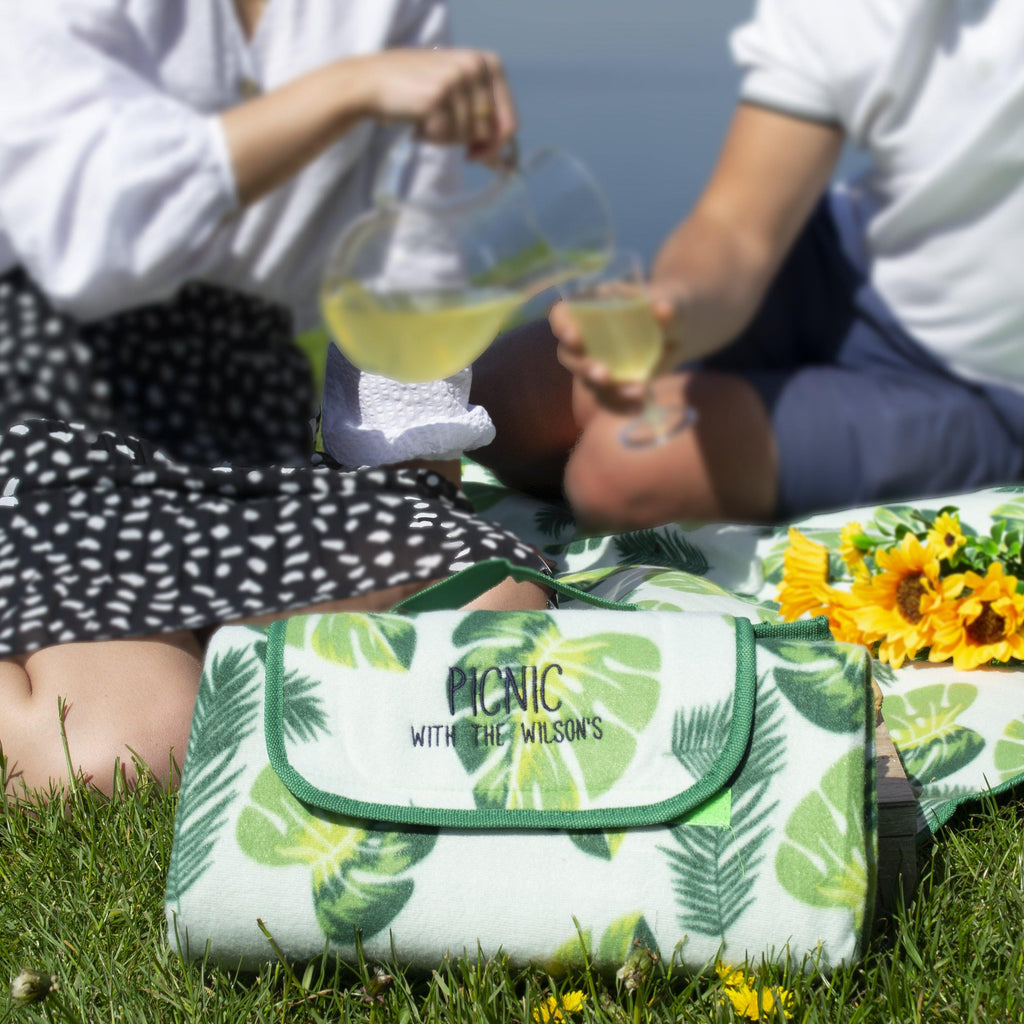 Personalised Family Leaf Picnic Blanket, Blanket, - ALPHS
