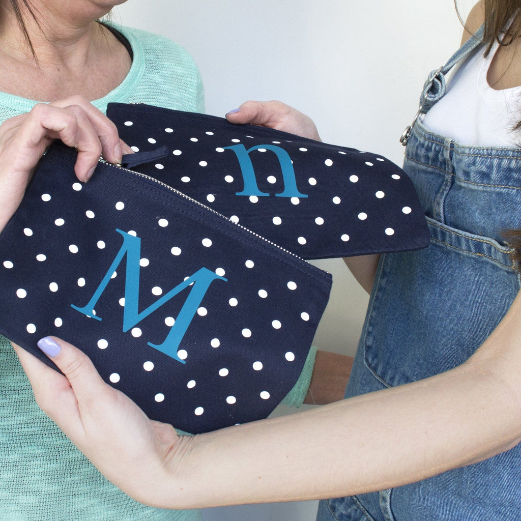 Mum And Me Co Ordinating Polka Dot Alphabet Pouch, bags, - ALPHS