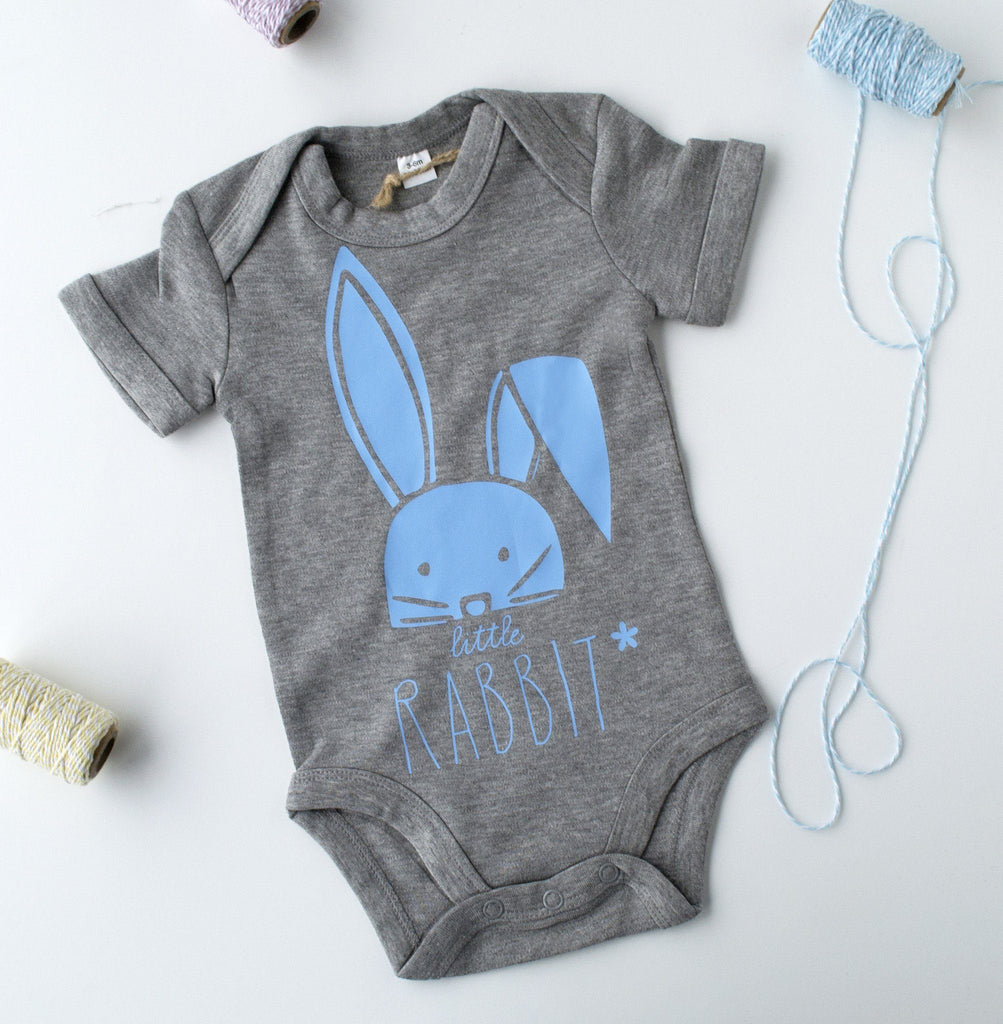 Little Rabbit Personalised Babygrow, Baby grow, - ALPHS