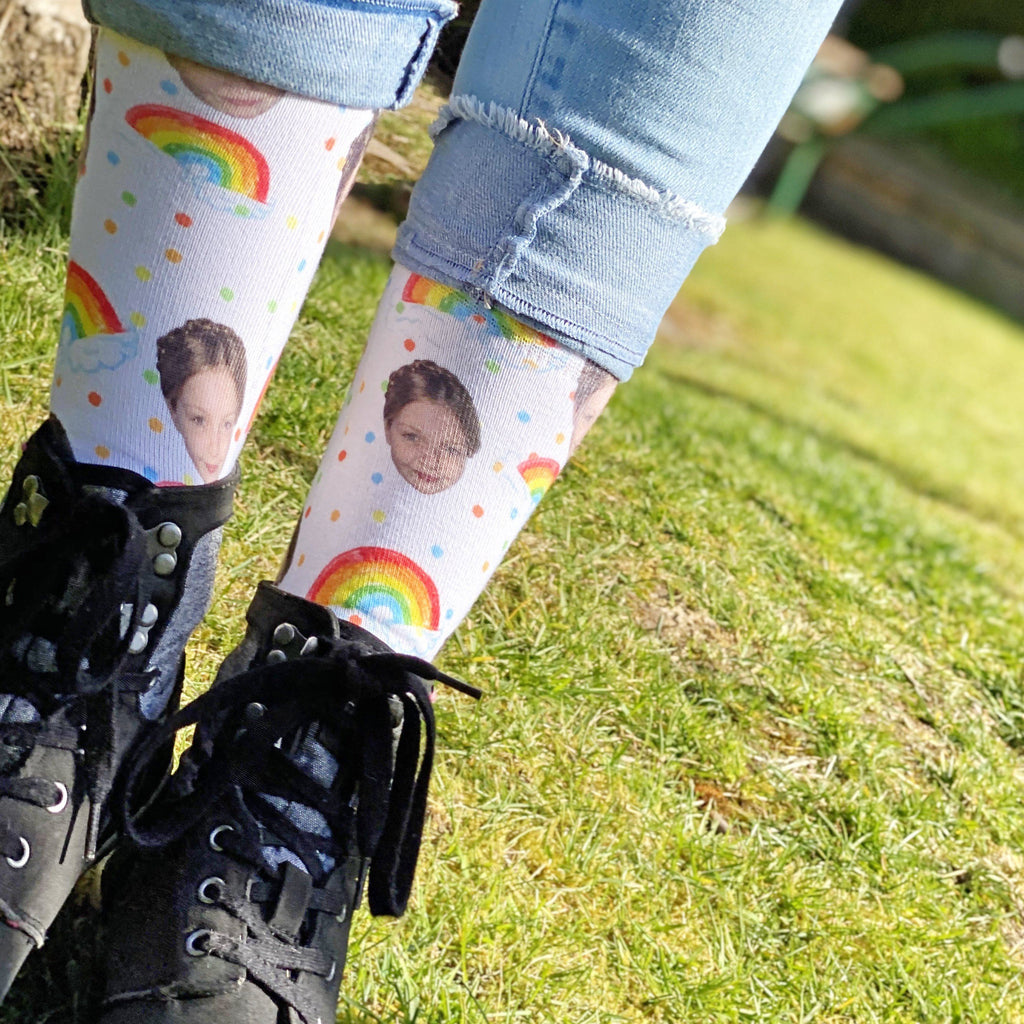 Rainbow Photo Socks, Photo Socks, - ALPHS