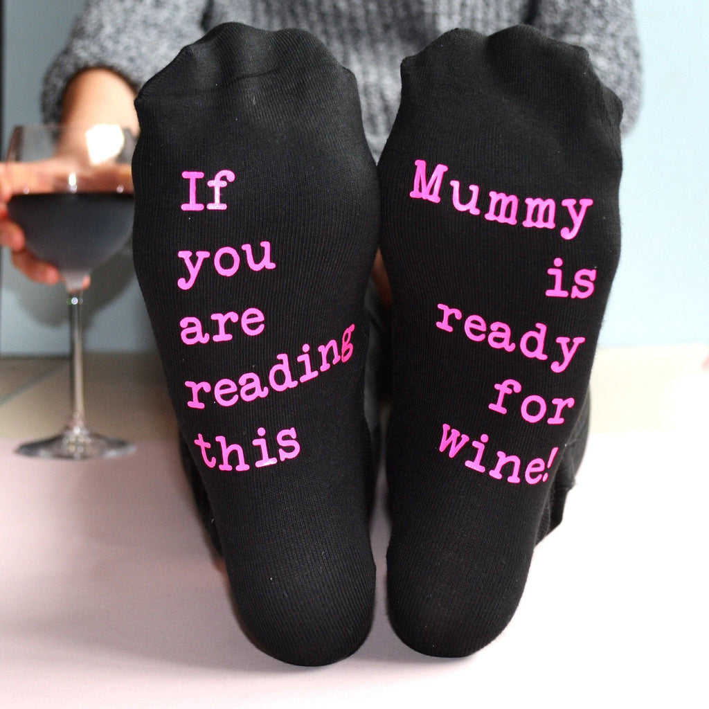 Ready For Wine Personalised Socks - ALPHS