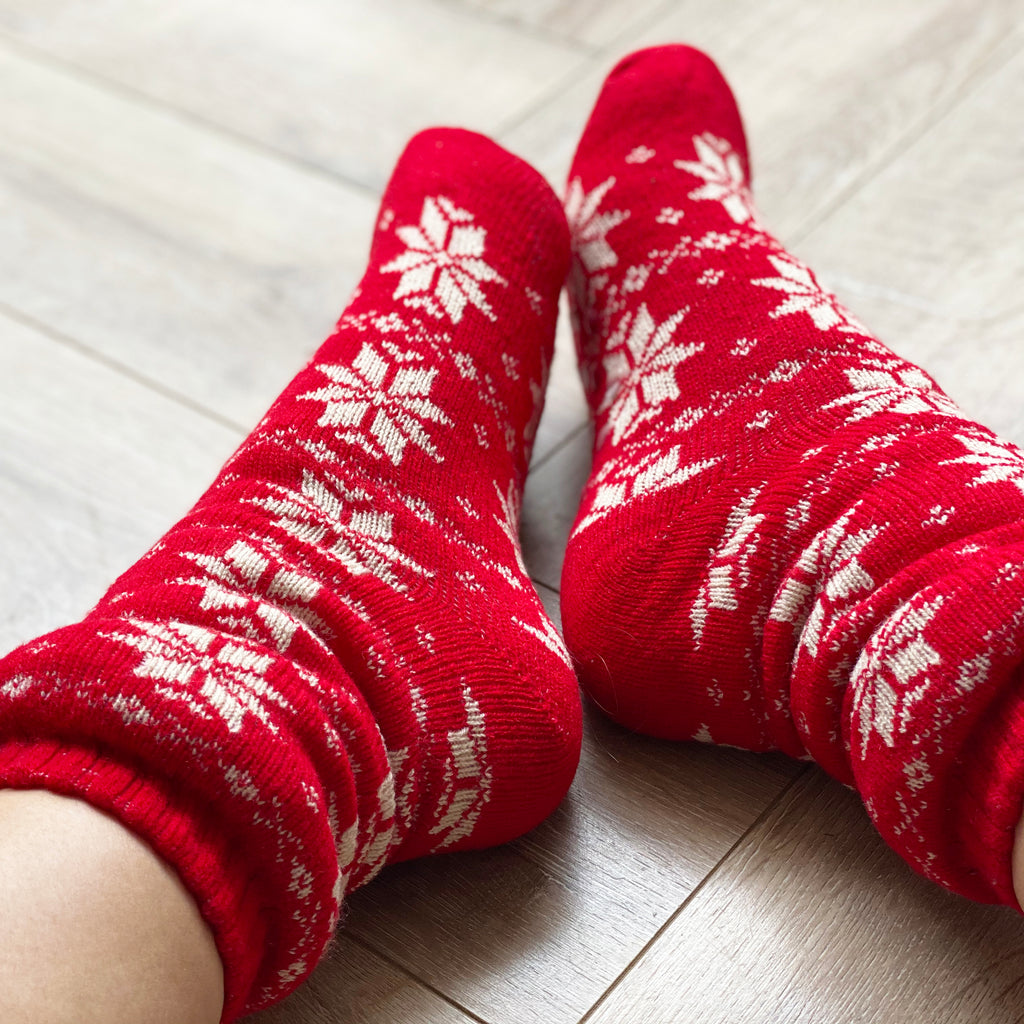 Embroidered Patterned Slipper Socks