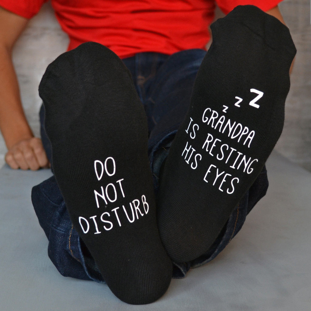 Do Not Disturb Resting Eyes Socks, socks, - ALPHS