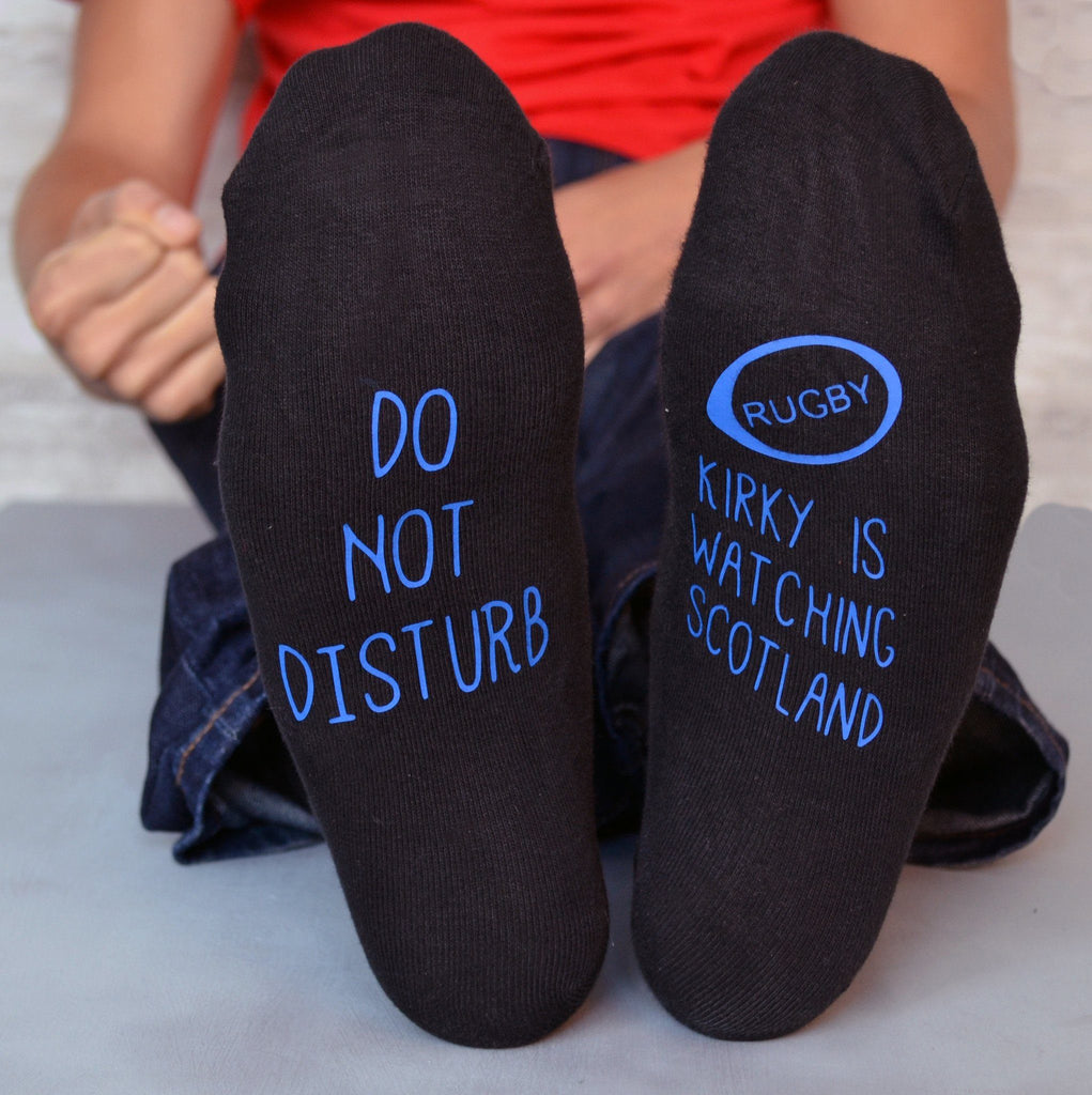 Do Not Disturb Rugby World Cup Socks, Socks, - ALPHS