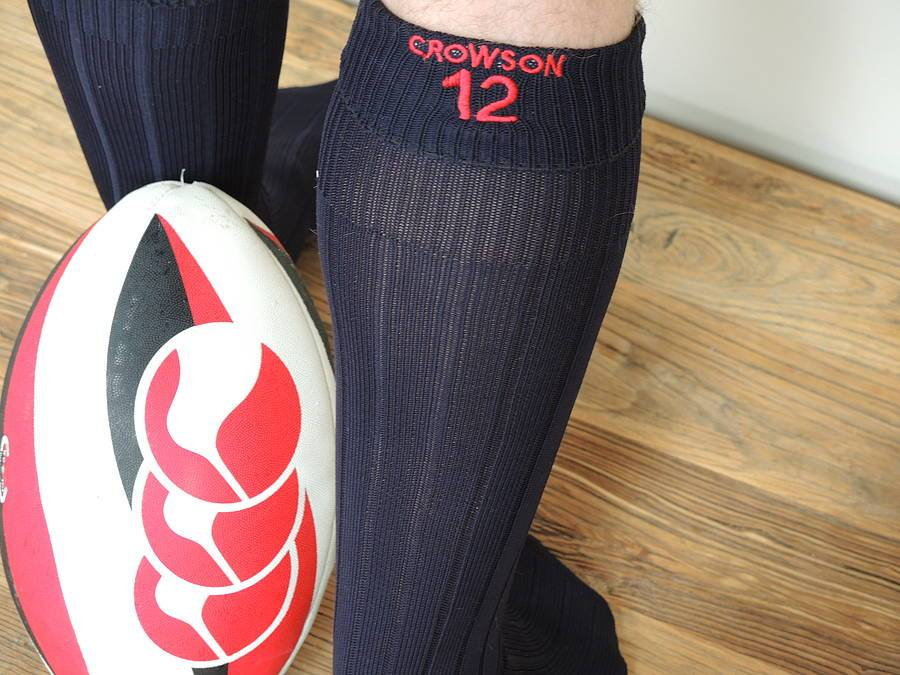 Personalised Embriodered Rugby/Football Socks, socks, - ALPHS