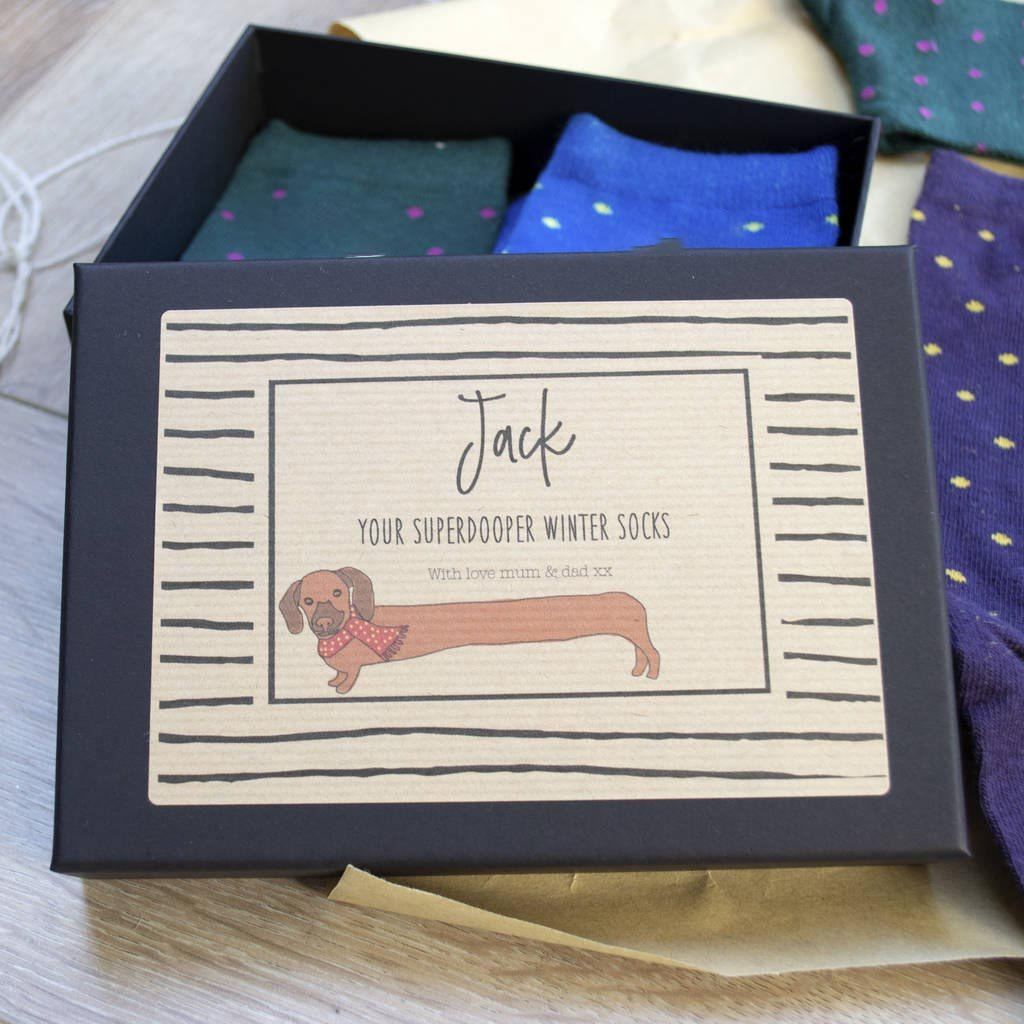 Personalised Sausage Dog Christmas Box