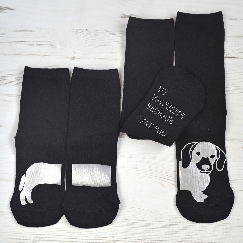 Personalised Me and You Set of Sausage Dog Socks, Socks, - ALPHS