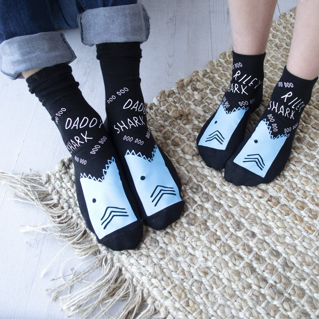 Personalised Shark Socks, Socks, - ALPHS