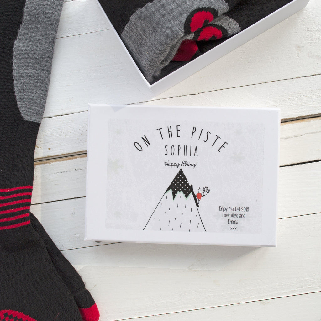 Personalised Women's Ski Socks Gift Box