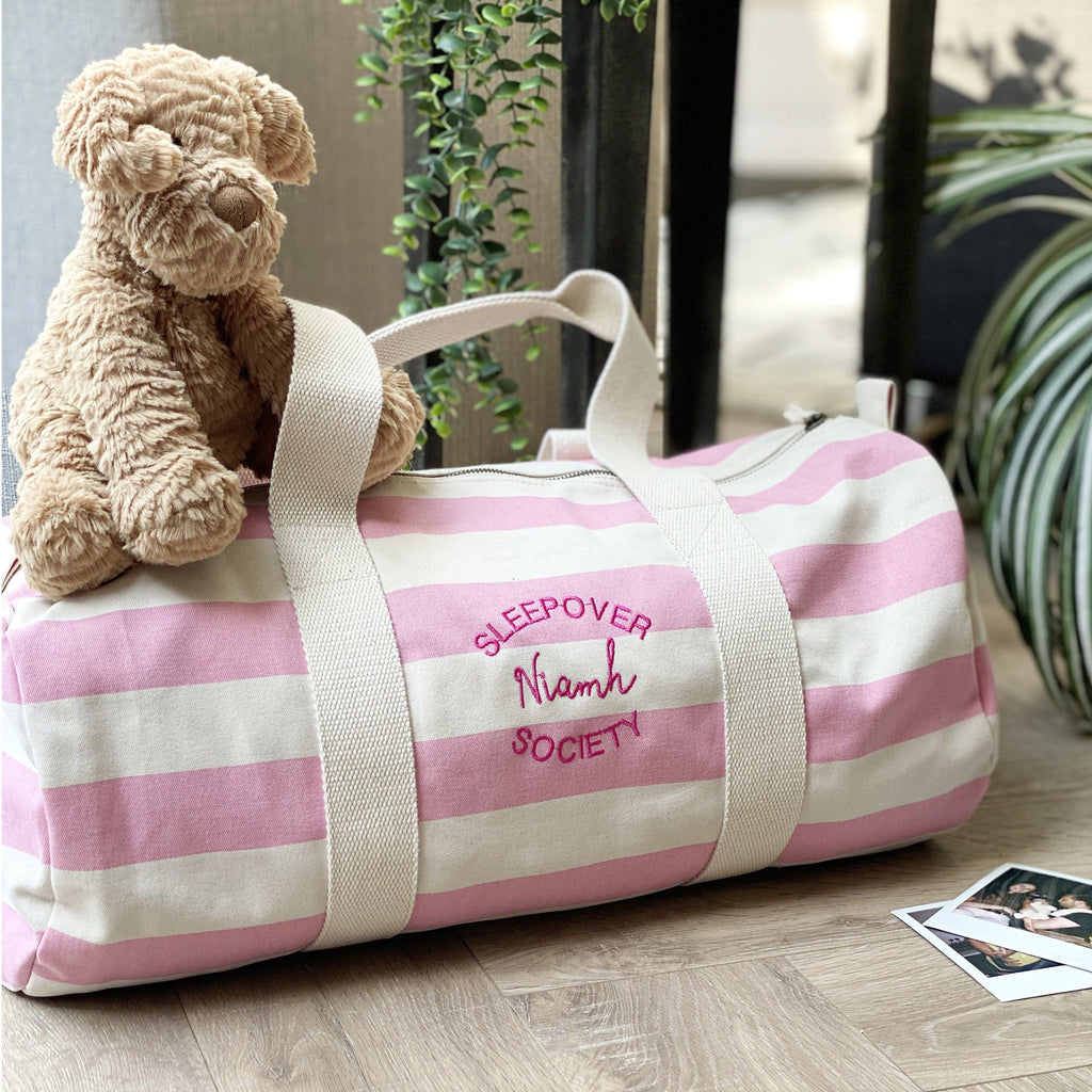 Personalised Sleepover Weekend Bag