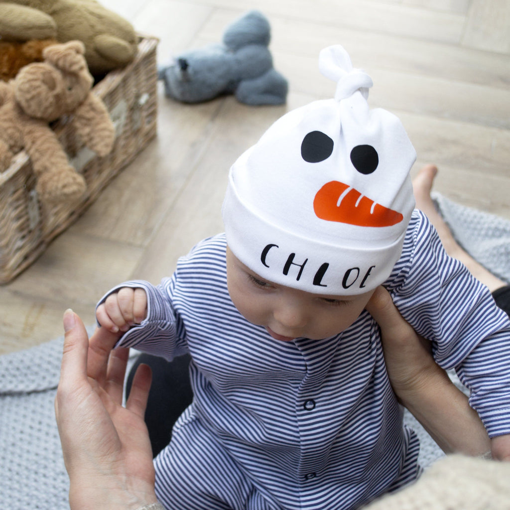 Personalised Baby Snowman Hat, Hats, - ALPHS