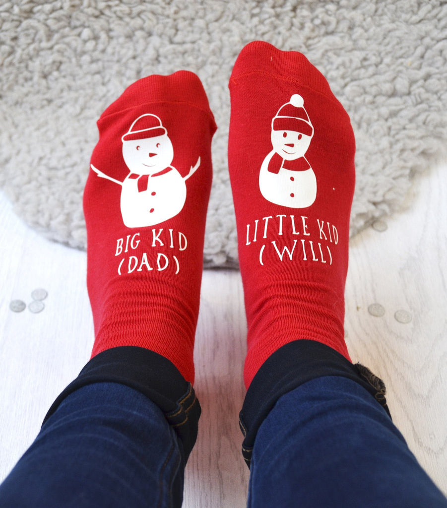 Personalised Snowman And Me Socks - ALPHS  - 2