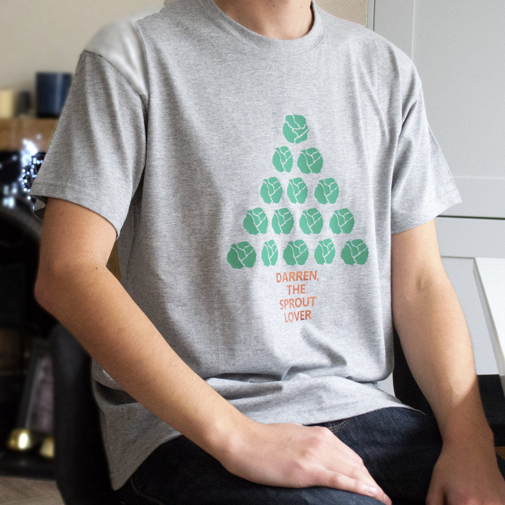 Sprout Lover Christmas Tree Personalised T Shirt