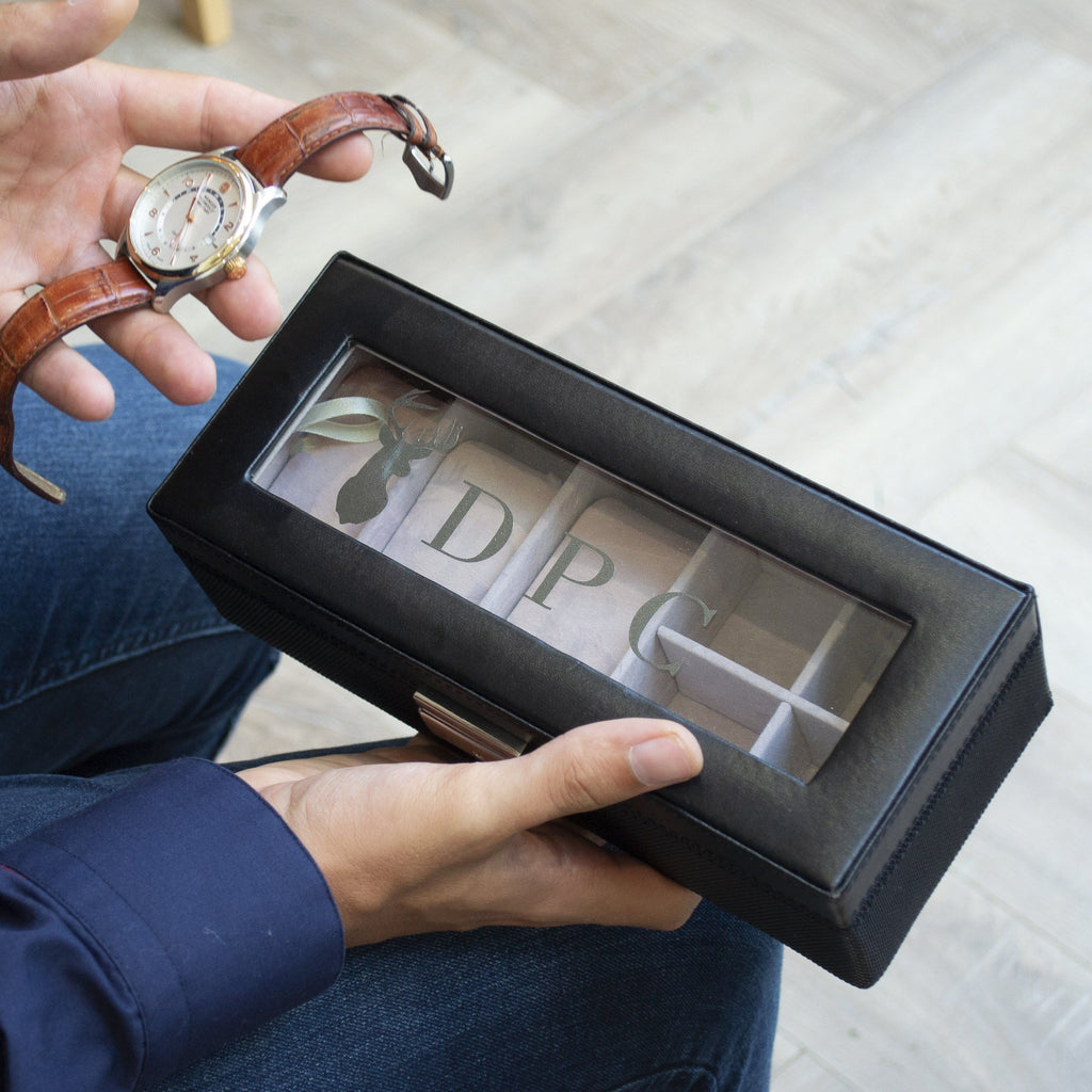 Men's Personalised Watch Box, Watch Box, - ALPHS