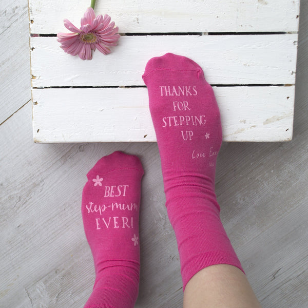 Personalised Step Mum Gift Socks