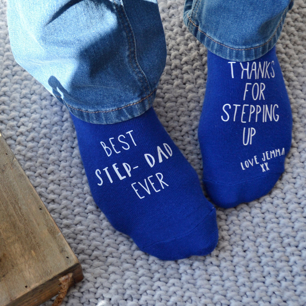 Personalised Step Dad Gift Socks