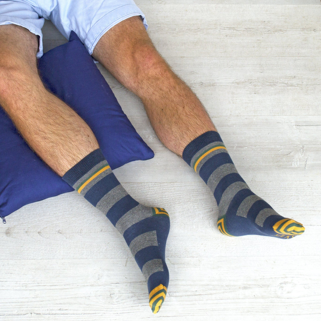 Men's Put Your Feet Up Patterned Slogan Socks, Socks, - ALPHS