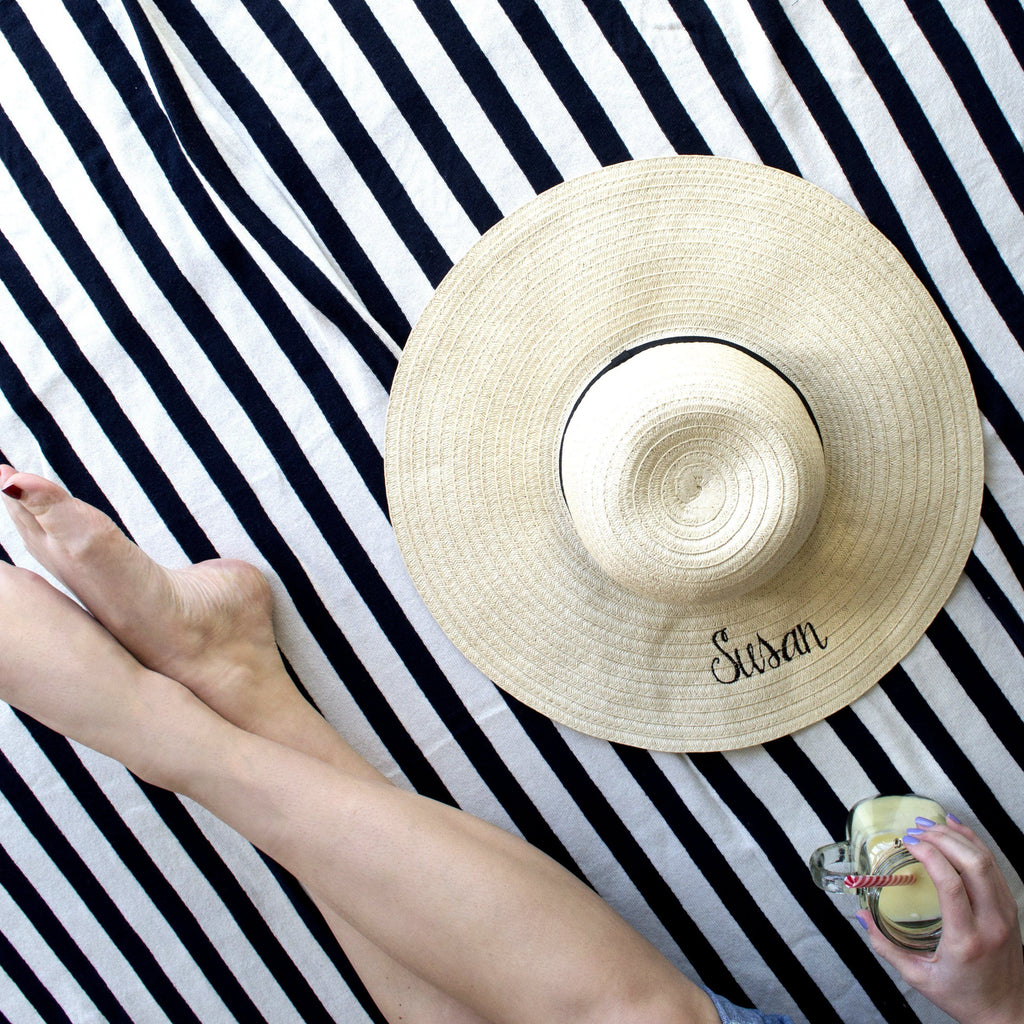 Personalised Summer Straw Hat, Hats, - ALPHS