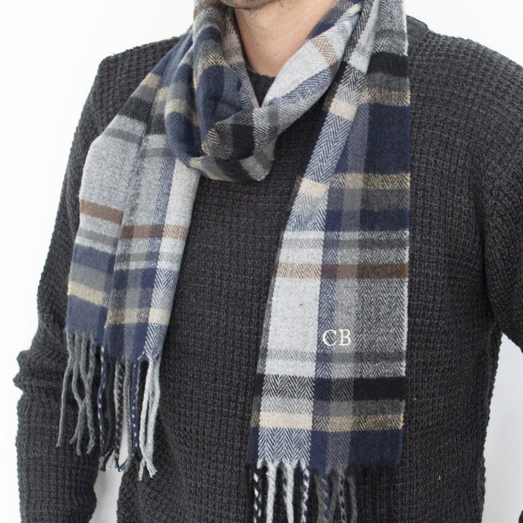 Men's Personalised Tartan Scarf, scarf, - ALPHS