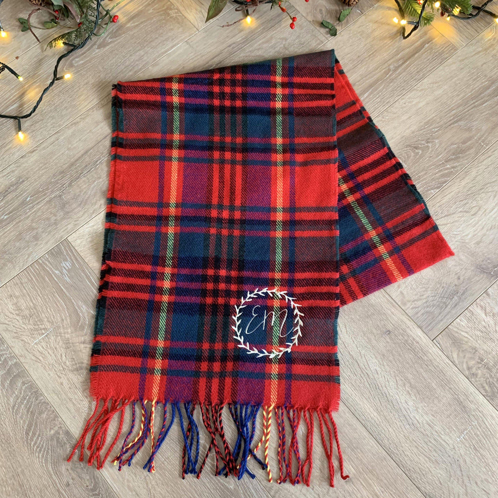 Personalised Women's Traditional Tartan Scarf, scarf, - ALPHS