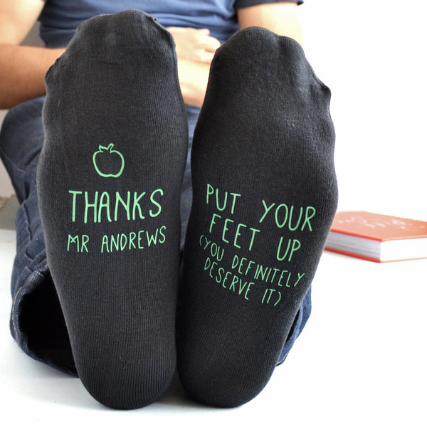 Put Your Feet Up Personalised Teacher Gift Socks, socks, - ALPHS